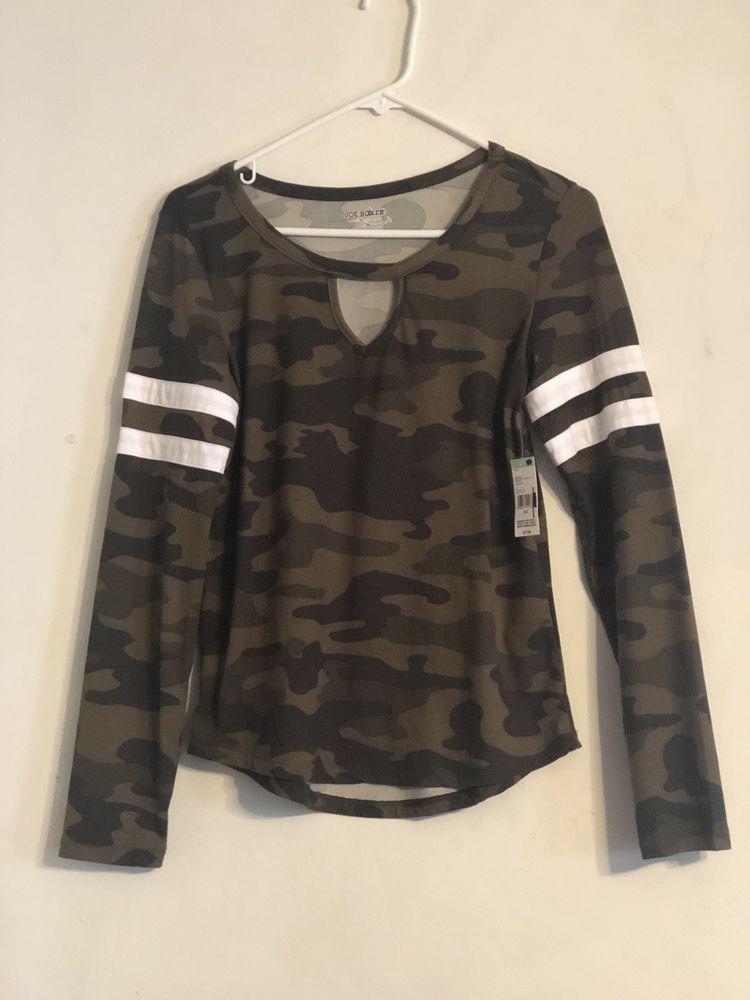 e56ab80fa5142 Joe boxer Long Sleeve Sport Camo Junior Girls Sm  fashion  clothing  shoes   accessories  womensclothing  tops (ebay link)