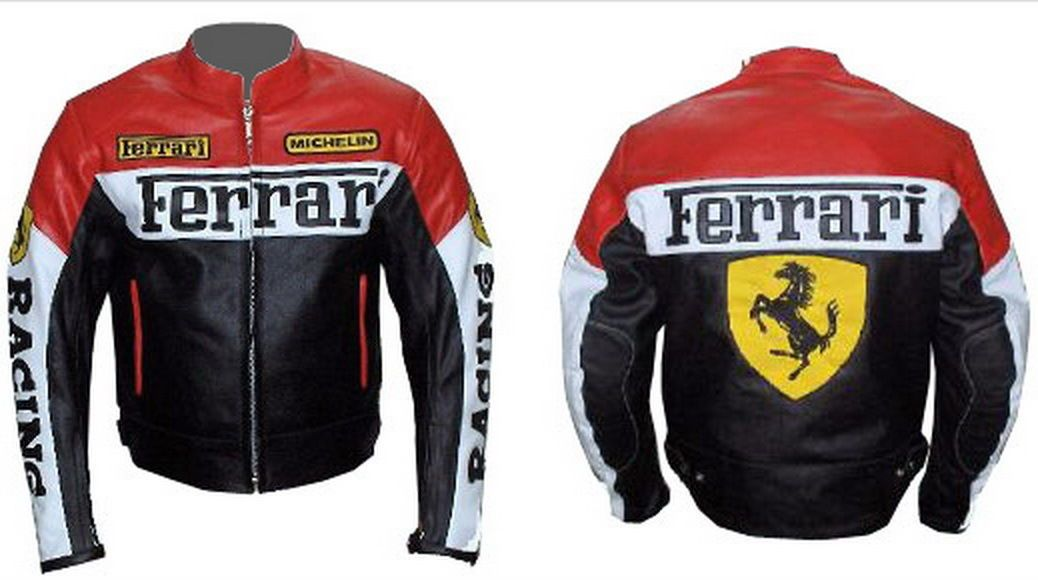 Custom Handmade Motorcycle Leather Jacket For Ferrari In Red Color Padded Ebay Leather Motorcycle Jacket Cheap Leather Jacket Leather Jacket Men