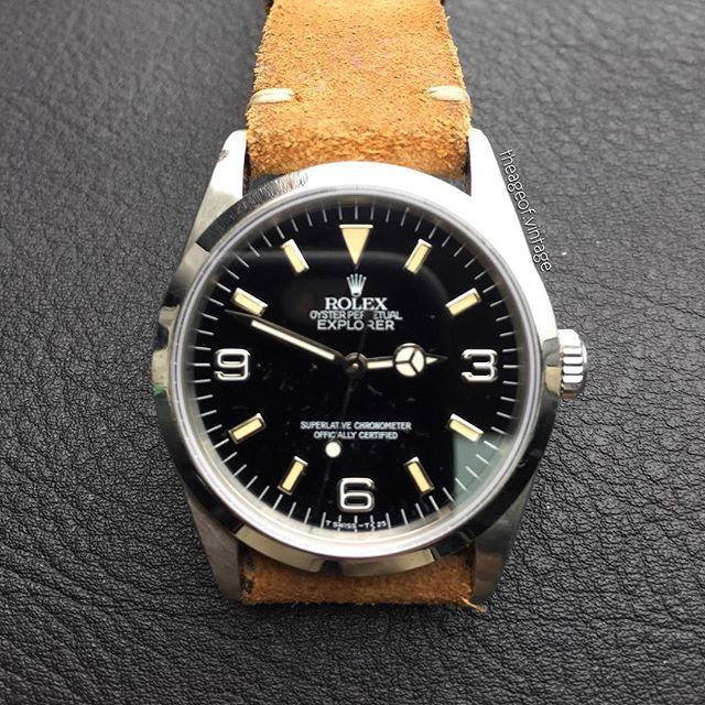 REPOST!!! Gunny Strap Minimalist on Rolex Explorer 14270