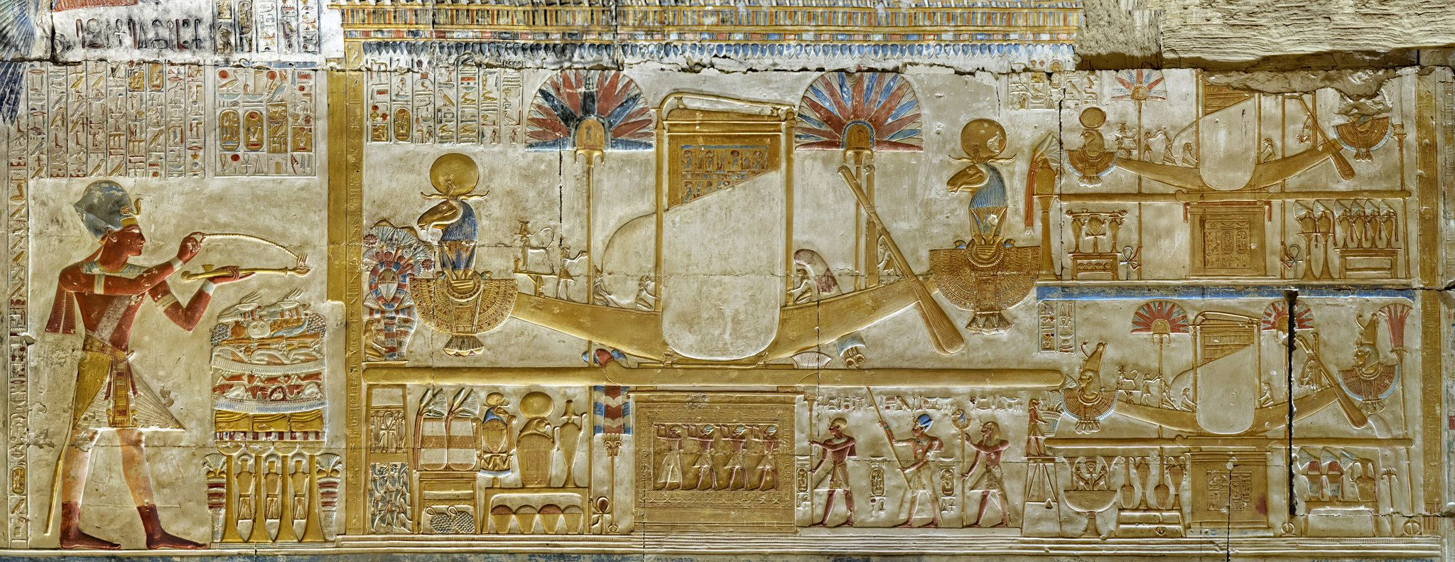 Abydos, Temple of Seti I, Chapel of Amun-Ra, Pano ...