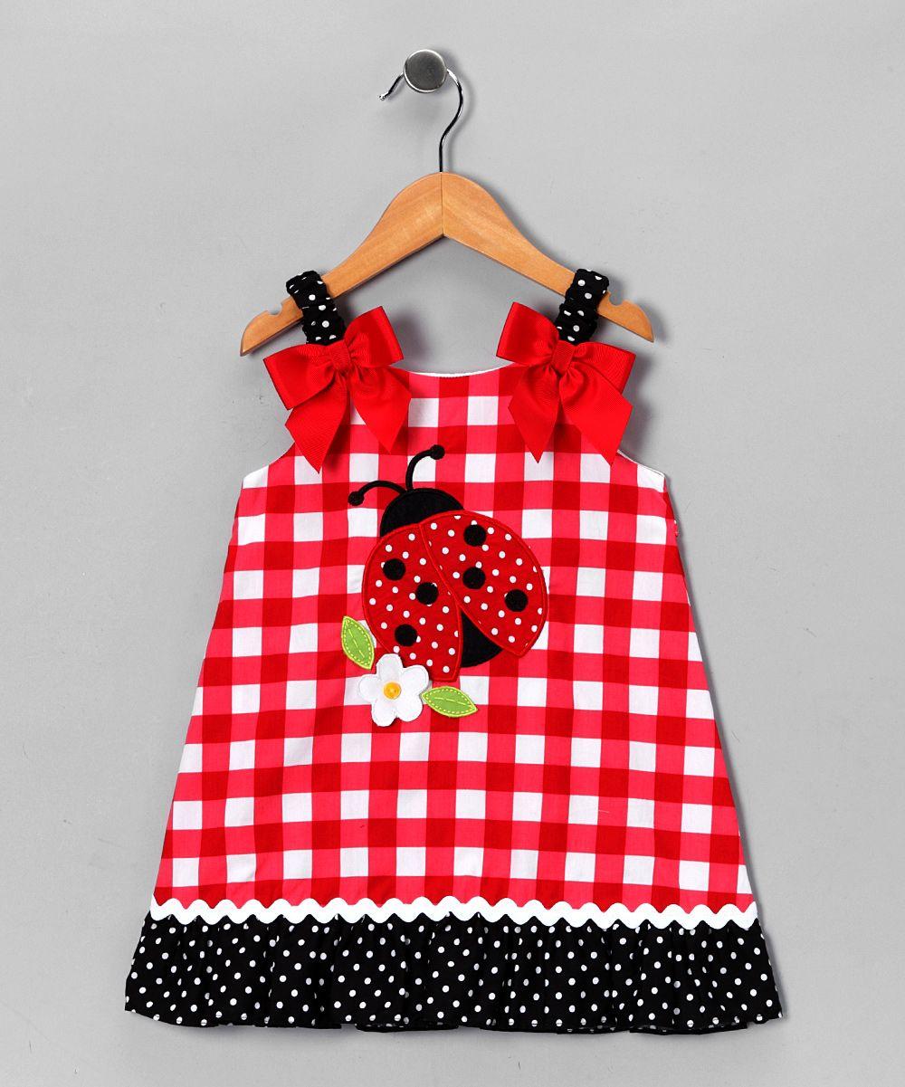 d97659ddd Red & White Gingham Ladybug Dress - Toddler & Girls | Little ...
