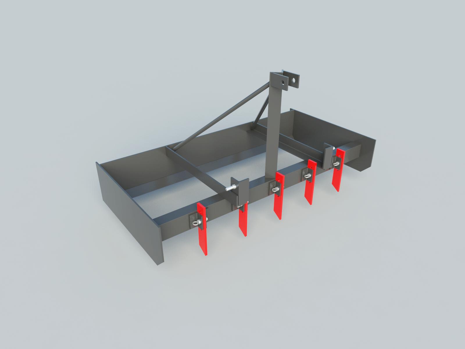 build your own 3pt box blade diy plans fun to build  [ 1600 x 1200 Pixel ]