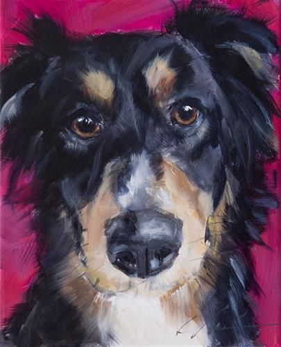 "Daily Paintworks - ""PAINT MY DOG #10"" - Original Fine Art for Sale - © Clair Hartmann"