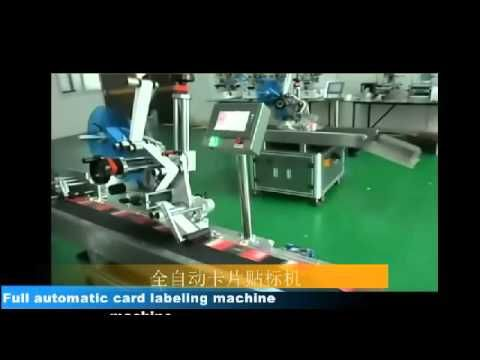 automatic top labeling machine for clothes hangtags cards