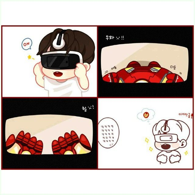 Cute byun BaekHyun imagining being ironman X3