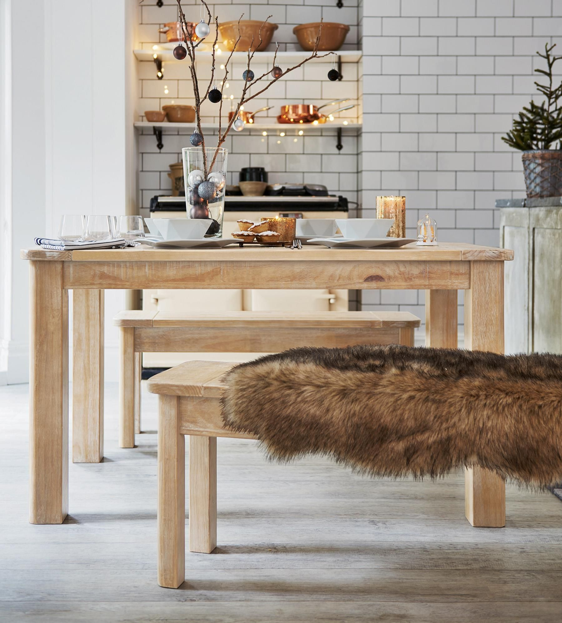 Buy Huxley Dining Table And Bench Set From The Next Uk Online Shop
