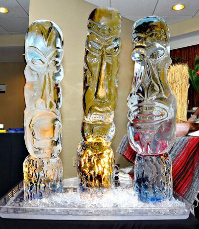 Tribal Masks by Seasons Ice Sculptures, Lexington, KY.