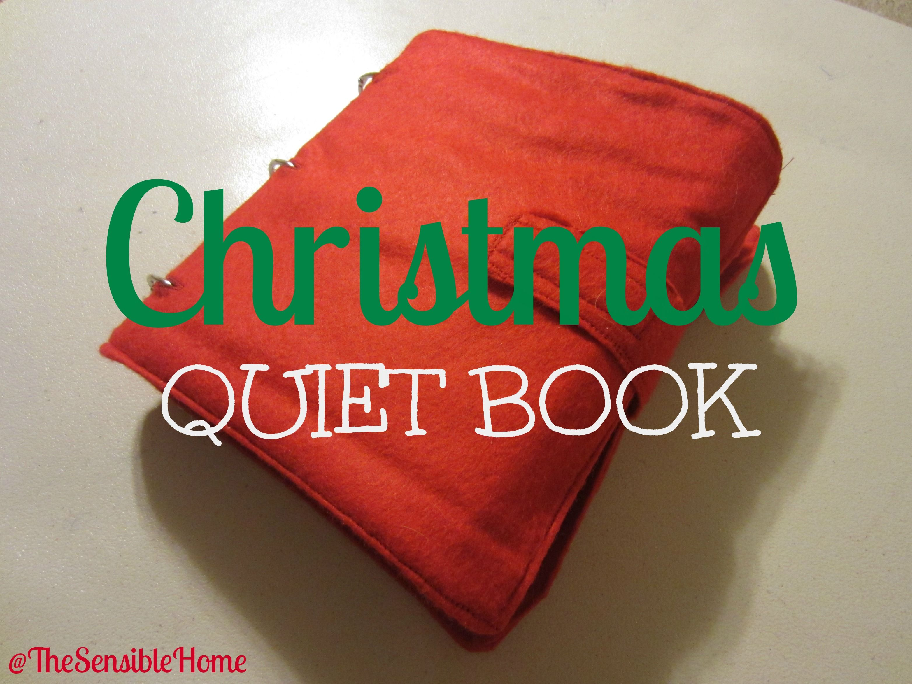 Christmas Quiet Book With Text