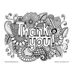 """Thank You"""" Coloring Page 