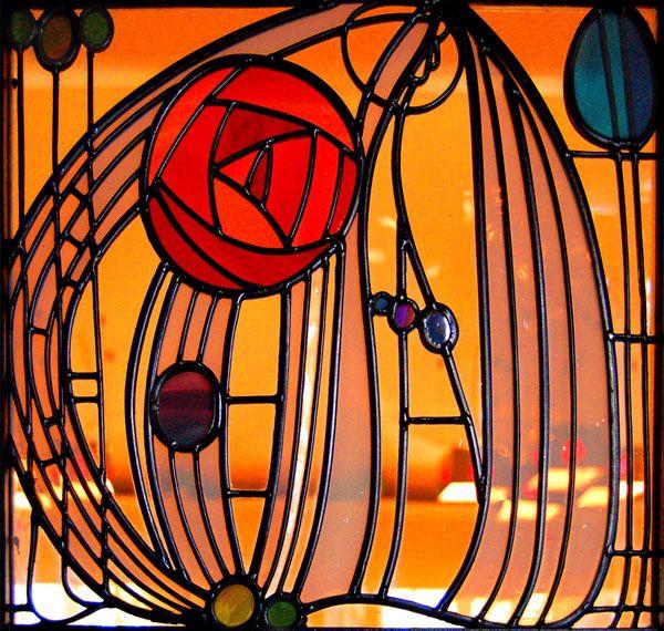 Stained glass piece by McKintosh
