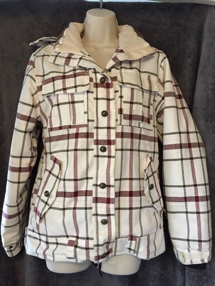 Powderroom X5 10 000mm Women 039 S Plaid Winter Snowboard Jacket