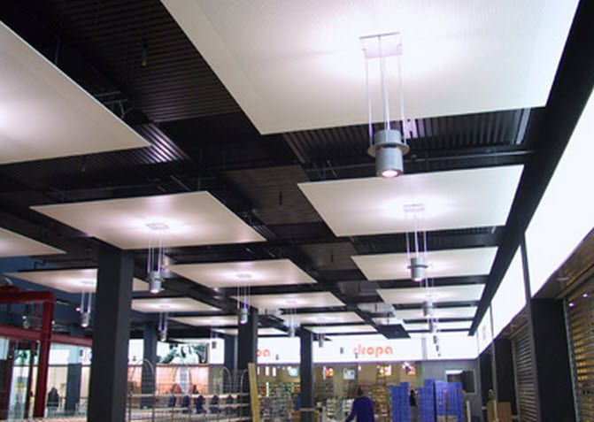 sound absorbing ceiling cloud armstrong metalldecken ag | i.s. web