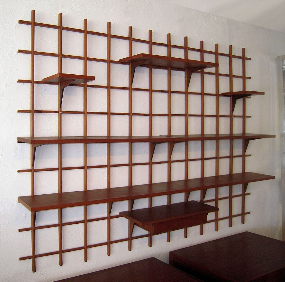 furniture chic contemporary wall shelving to inspire you danish modern wall mounted display. Black Bedroom Furniture Sets. Home Design Ideas
