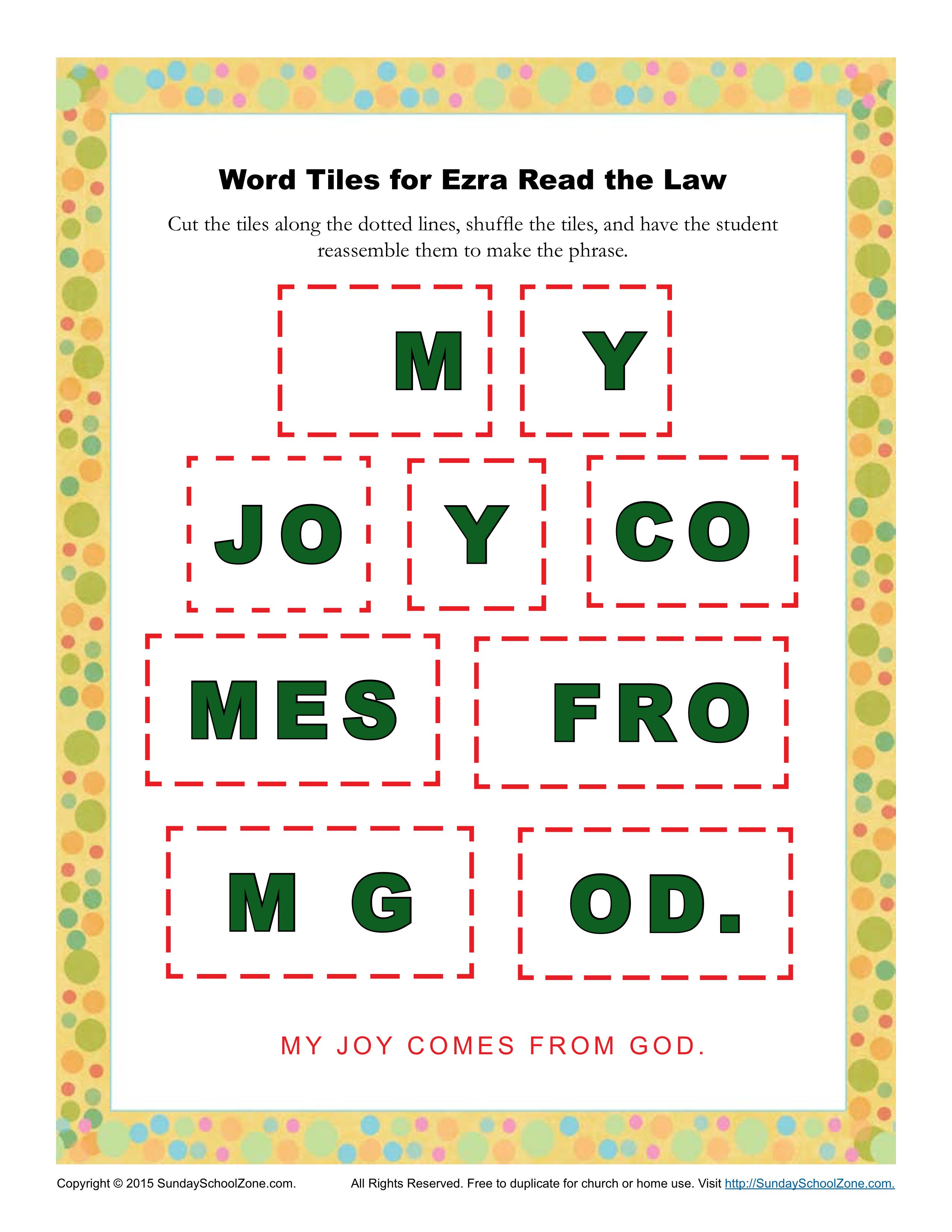 Ezra Read The Law Word Tiles
