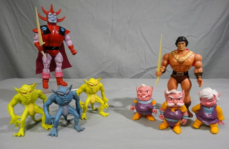 Blackstar Figures Galoob 1983 From The Left Three Demon Servants The Overlord First Version Trobbits Carpo Bal Childhood Toys Classic Toys Modern Toys