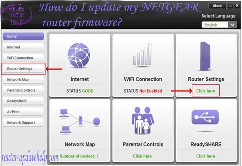 how do i update my netgear firmware