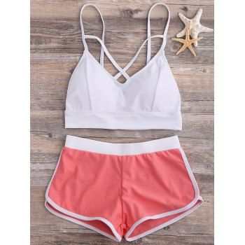 SHARE & Get it FREE | Contrast Criss Cross Strap Bikini SetFor Fashion Lovers only:80,000+ Items·FREE SHIPPING Join Dresslily: Get YOUR $50 NOW!