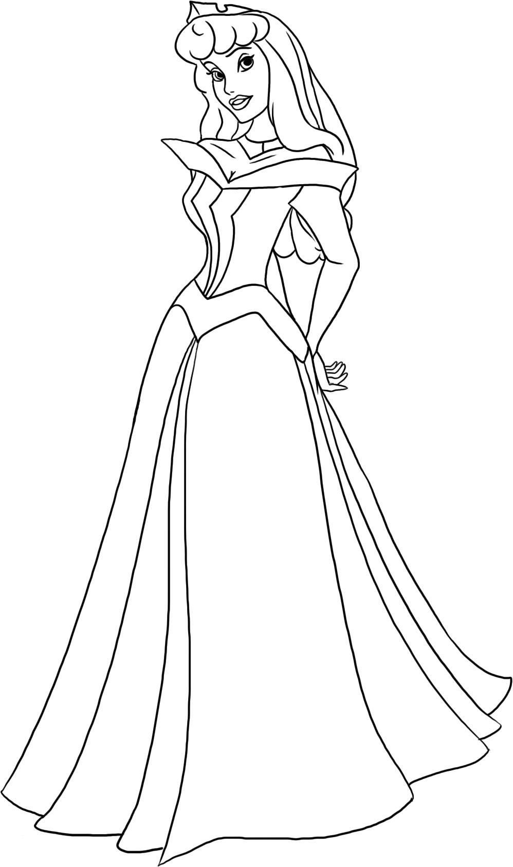 Aurora Disney Princess Coloring Pages Sleeping Beauty Coloring Pages Disney Princess Colors