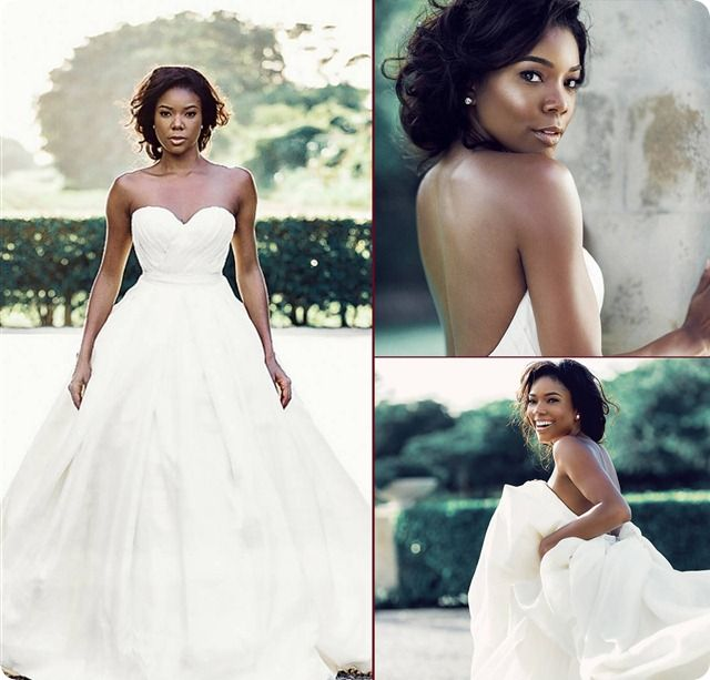 Gabrielle union wedding dress celebrity news pinterest gabrielle union wedding dress junglespirit Choice Image