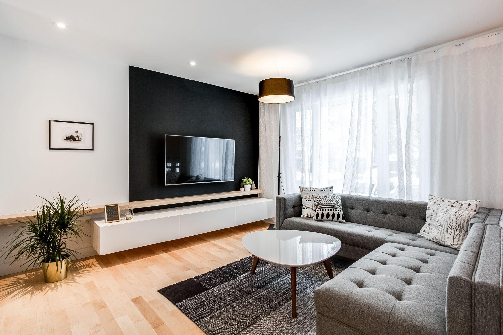 Mueble bajo con estante independiente  Salón de casa, Hogar