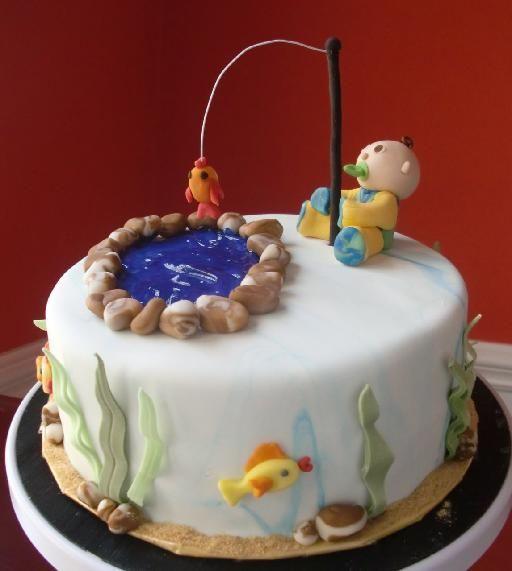 Baby Fishing Fish Cake Birthday