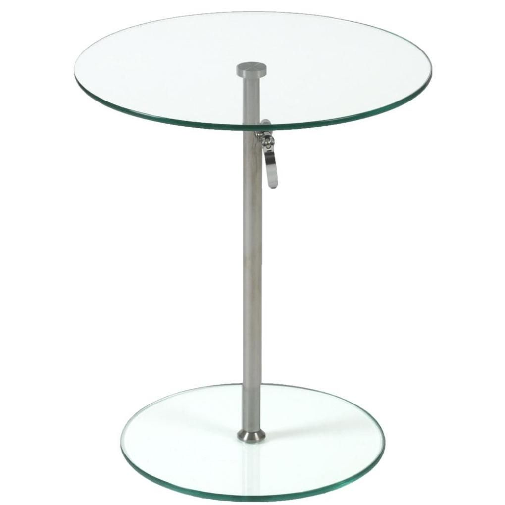 Small Gl And Chrome Side Table