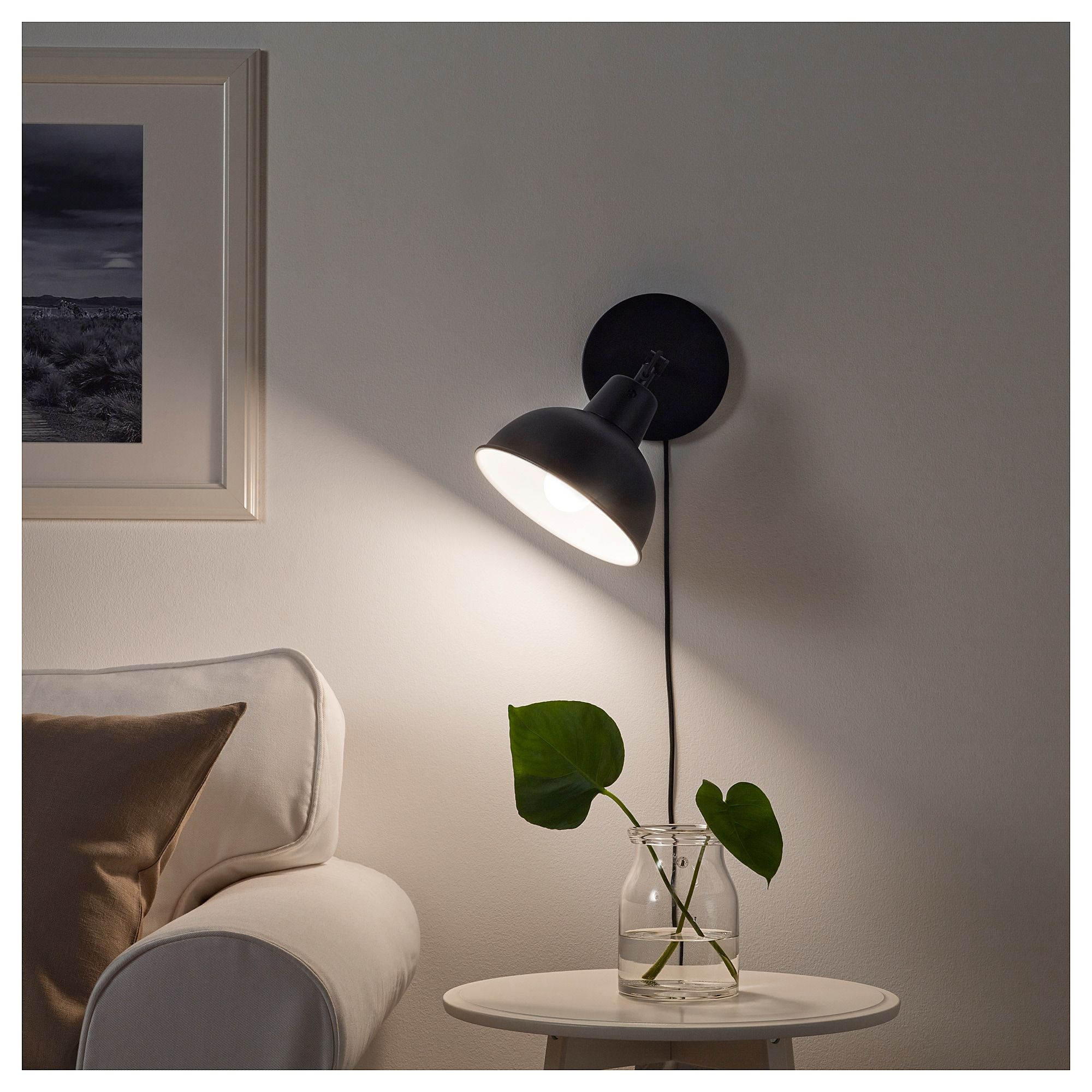 Applique Ikea Da Interno skurup table/wall uplight - black | lampade, lampade da