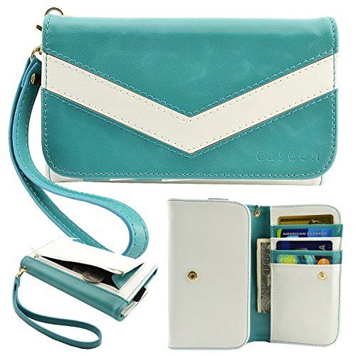 caseen ViVi Women's Smartphone Wallet Clutch Wristlet Case (Teal Turquoise Mint/White) for LG Optimus L90 L9 F6 F3Q F3, Samsung Galaxy Rugby Pro Avant Exhibit Light S4 SIII mini, HTC Desire 610, KYOCERA DuraForce, Nokia Lumia 521 635, ALCATEL ONETOUCH Fierce 2, Evolve caseen http://www.amazon.com/dp/B00S1XGT12/ref=cm_sw_r_pi_dp_yfLdvb1VR6NDX