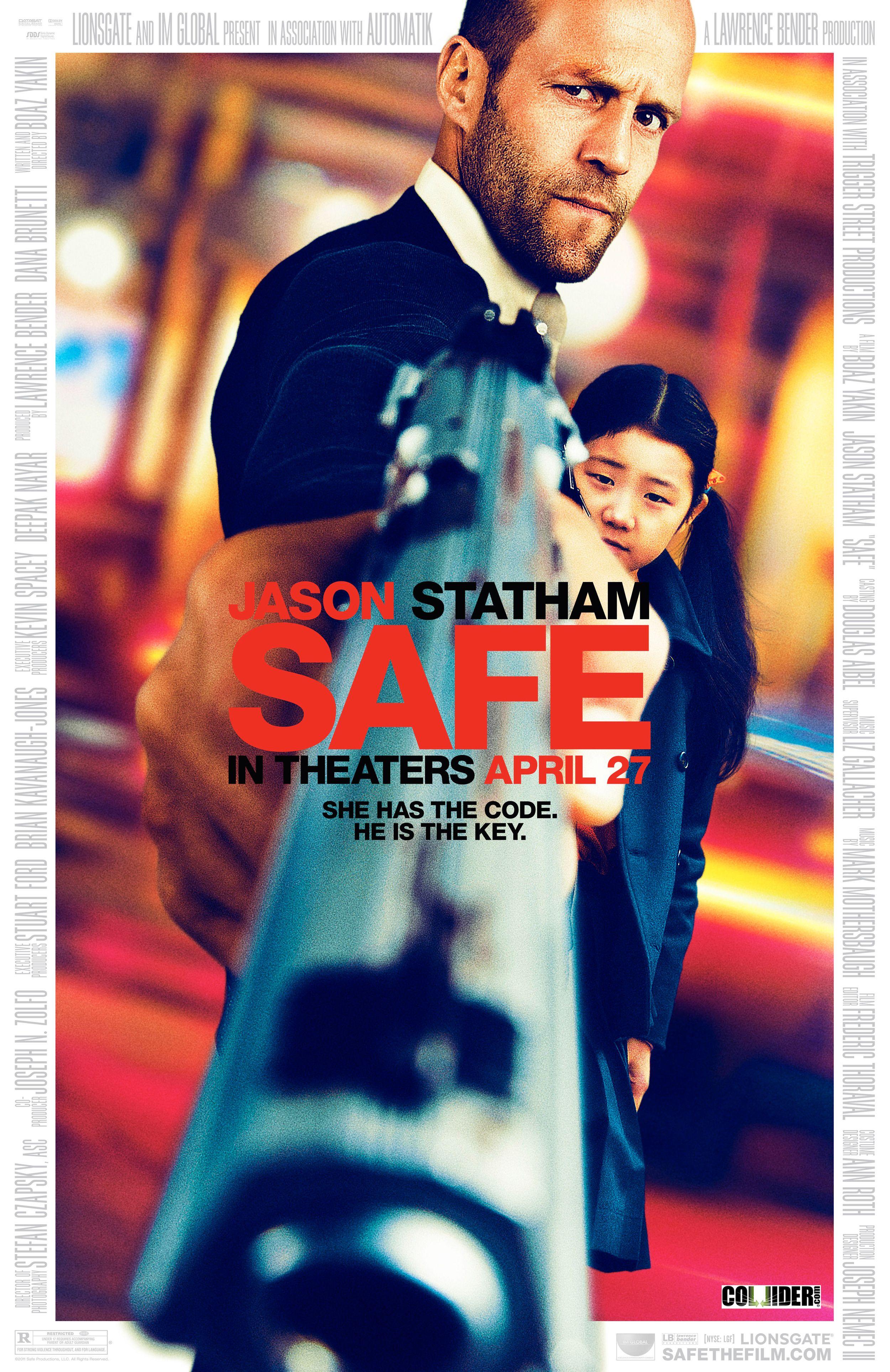 Safe Movie poster. Staring Jason Statham | Jason statham movies, New movie  posters, Statham