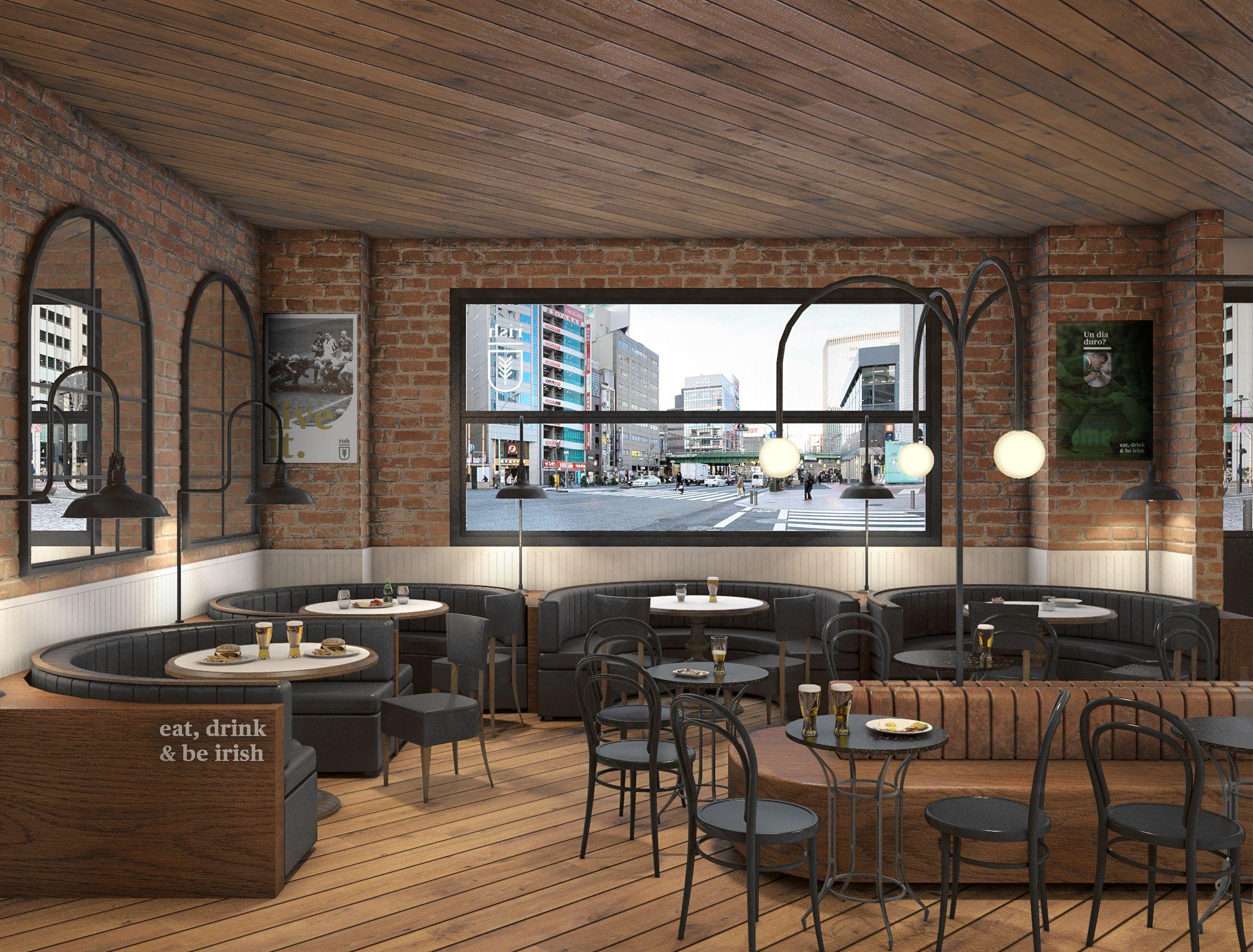 Proyecto Ganador De La Nueva Imagen Y Concepto De Los Bares  # Muebles Pub Irlandes