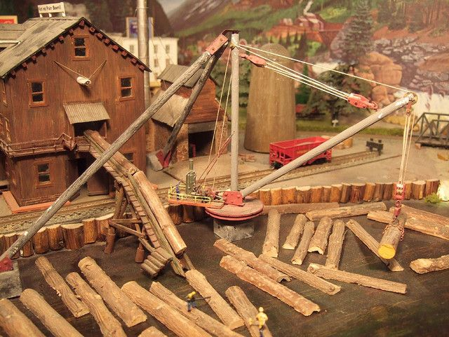 Yosemite valley model railroad milling logs and models for Mill log