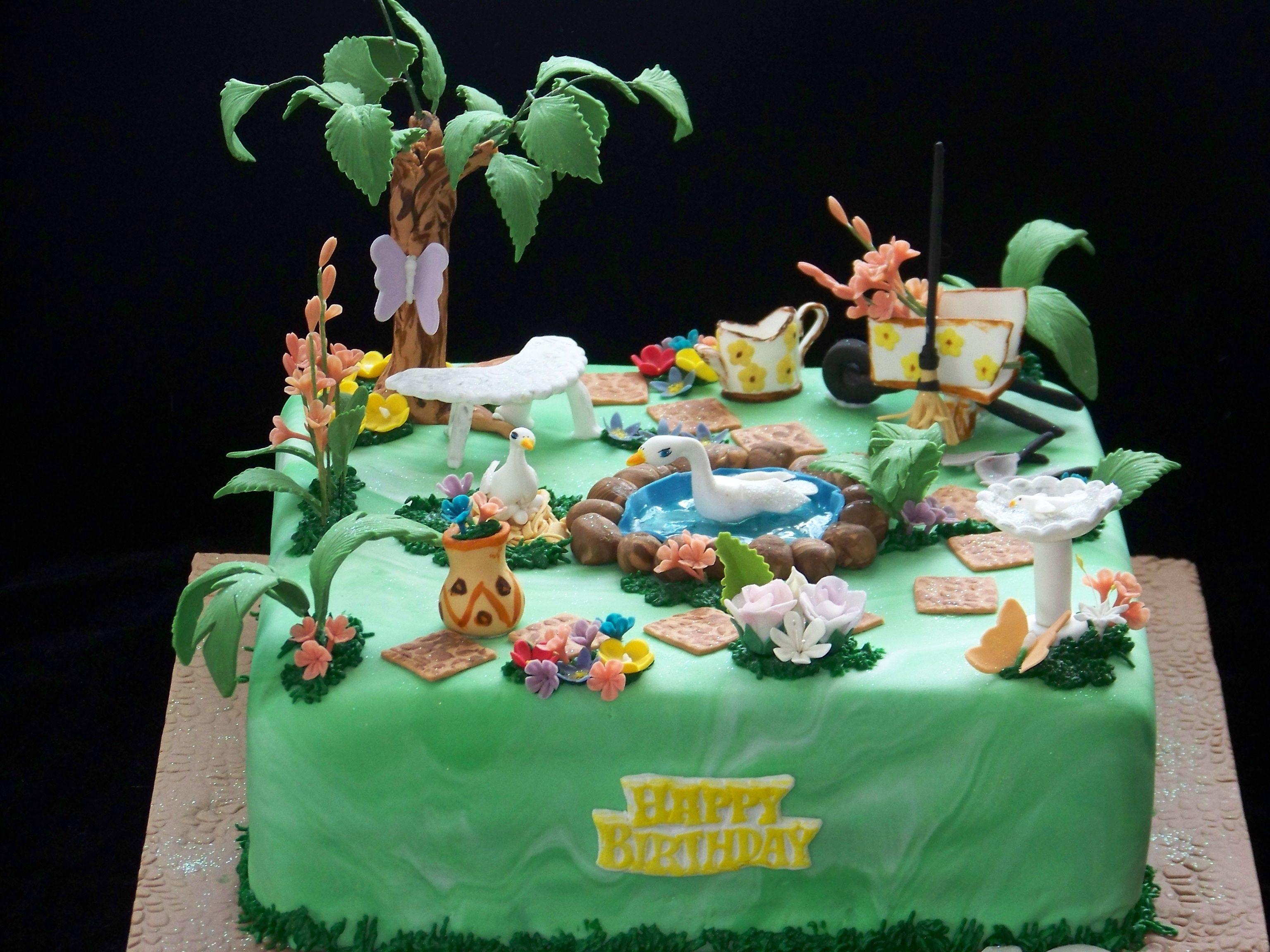 Garden cake   Cakes and cupcakes   Pinterest   Garden cakes, Cake ...