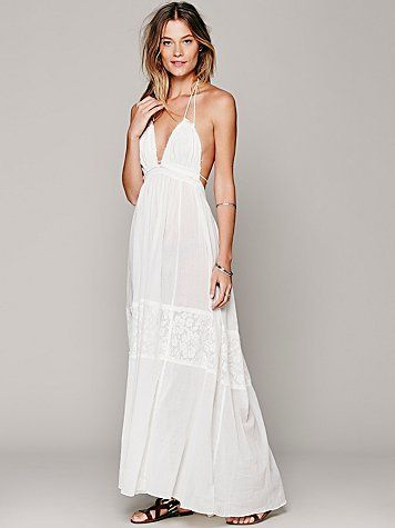 Free People Endless Summer Triangle Top Maxi on Wanelo