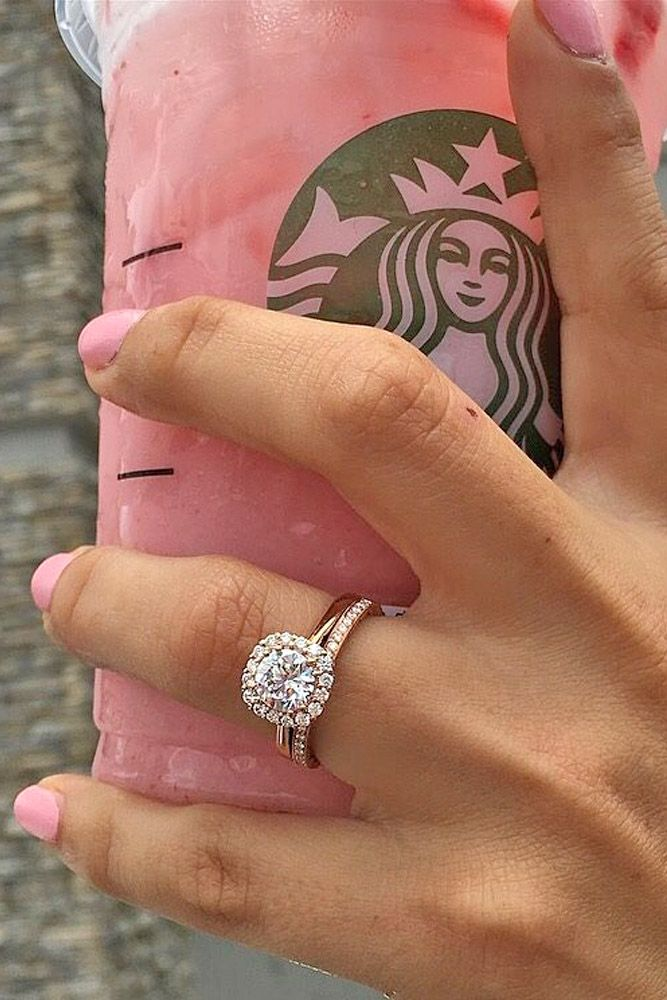 30 Halo Engagement Rings To Get More Bling Wedding Rings Bridal