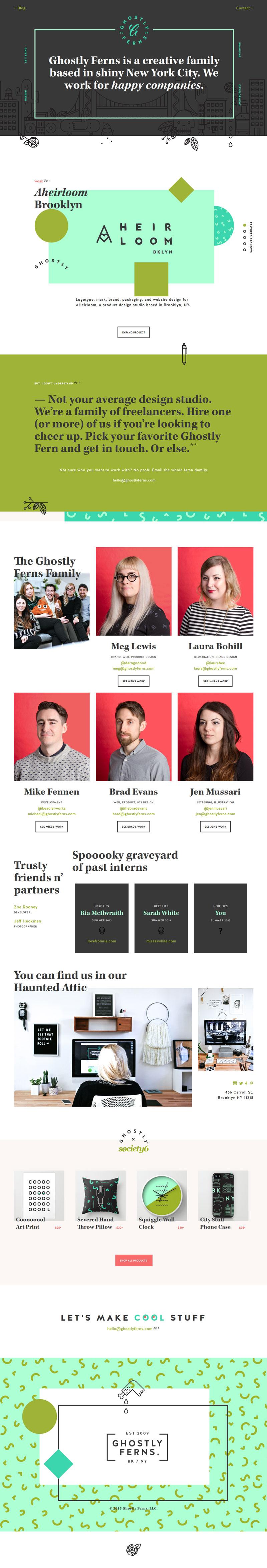 Ghostly Ferns - Creative Minimal Web Design