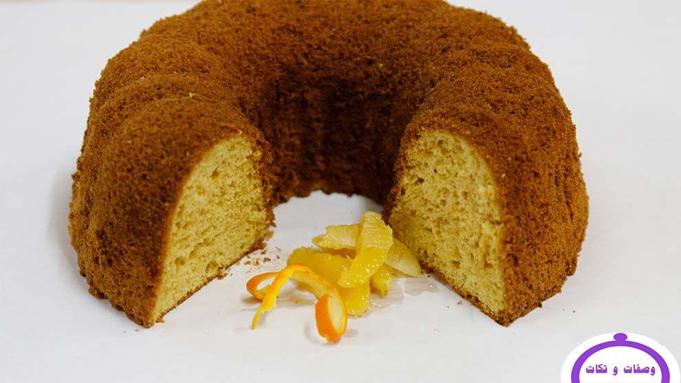 طريقة كيك الشيفون بنكهة البرتقال وصفات و تكات Orange Chiffon Cake Chiffon Cake Orange Chiffon