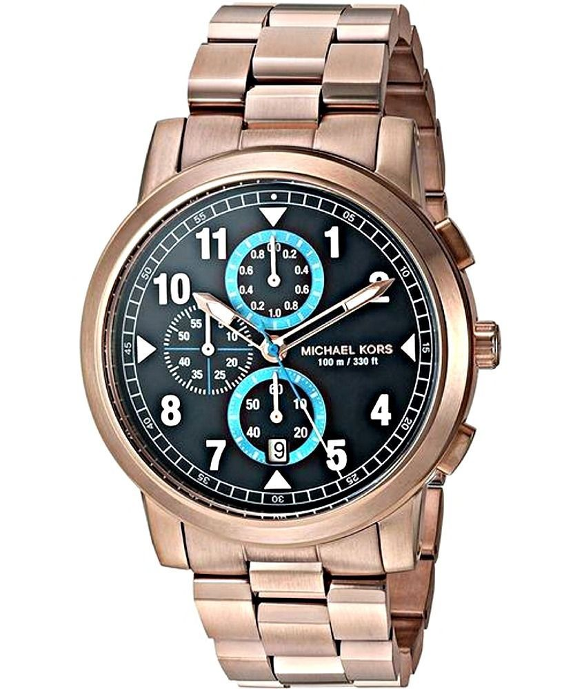 6c748e85b56f Michael Kors Men s Paxton Blue Dial Chronograph Watch - MK8550 ...