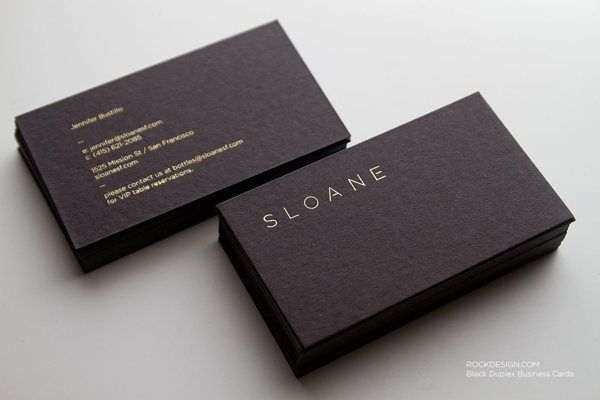 Sloane Duplex Business Cards By RockDesign High End Printing