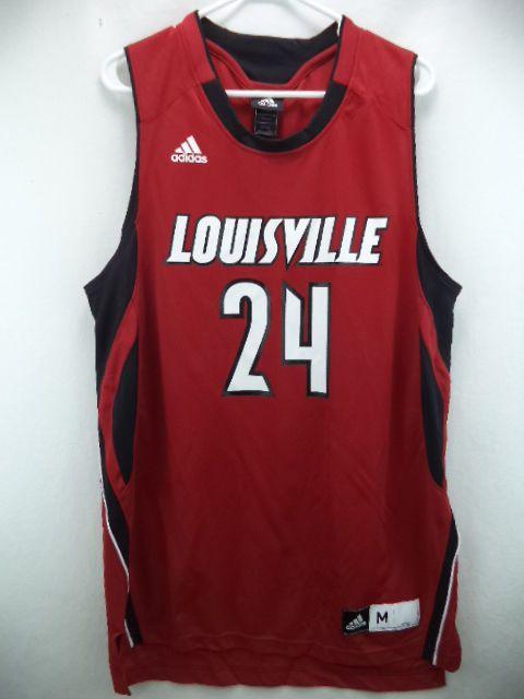 the best attitude eb448 4db68 Louisville Cardinals NCAA Adidas Red  24 Basketball Jersey L in Sports Mem,  Cards   Fan Shop   eBay