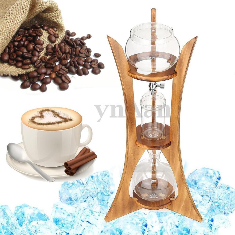 Cold Drip Ice Coffee Maker Glass Dutch Brew Machine w