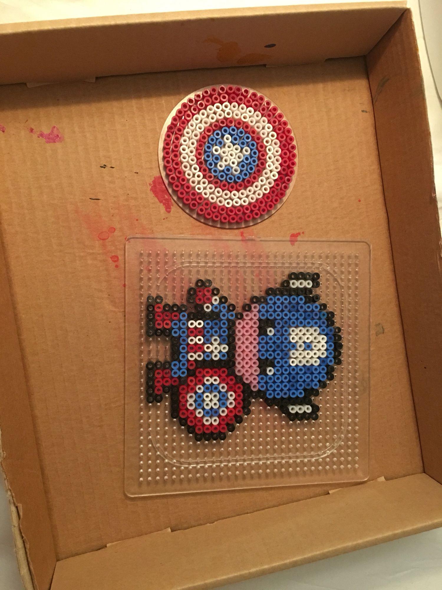 Pärlplatta Captain America Pyssel Captain America Och America