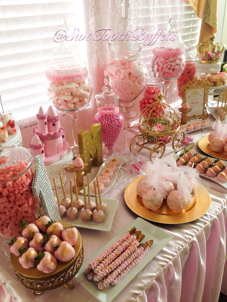 Royal Princess 1st Birthday Party Candy Buffet Candy Buffet Birthday Party Candy Birthday Party 1st Birthday Princess