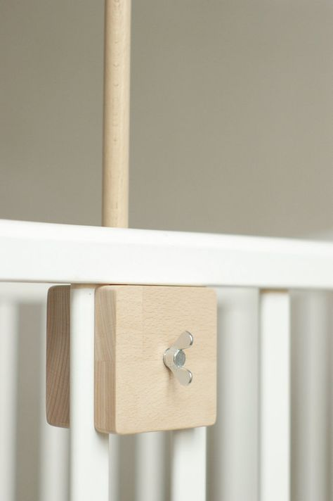 Custom Baby Colors Crib Mobile Attachment Arm Safely Clamps onto Crib