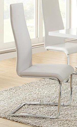 1Perfectchoice Brewer Modern Set Of 4 Dining Side Chairs White Magnificent Beige Leather Dining Room Chairs Design Decoration