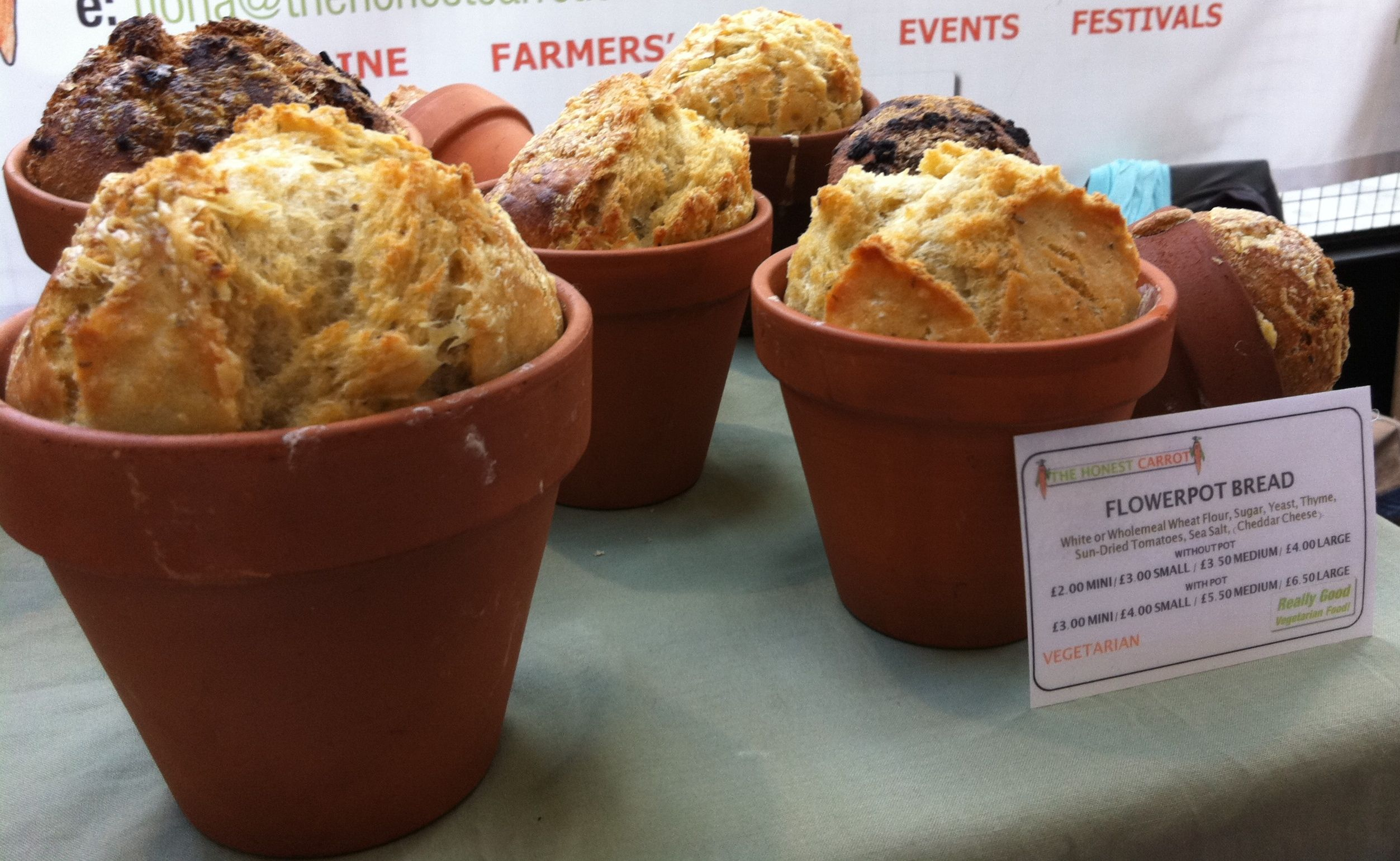 Wholemeal courgette flower pot bread August Fresh from