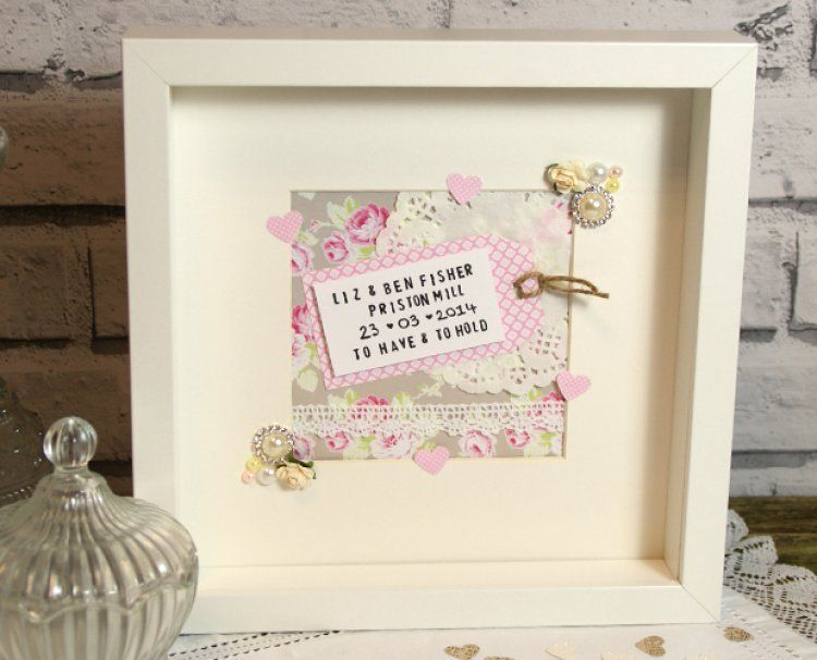 DIY Wedding Inspiration: Handmade Wedding Frame Gift | Handmade ...