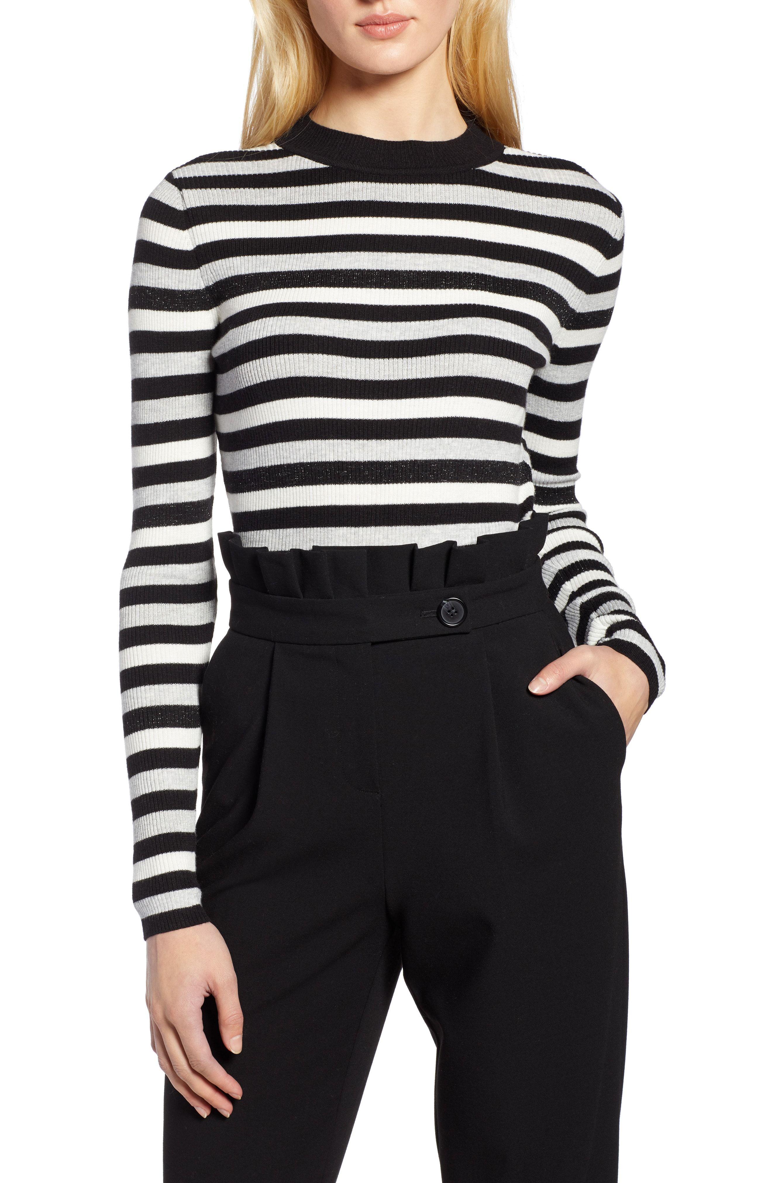 0e3ad9ad3fa Halogen® x Atlantic-Pacific Shimmer Stripe Sweater