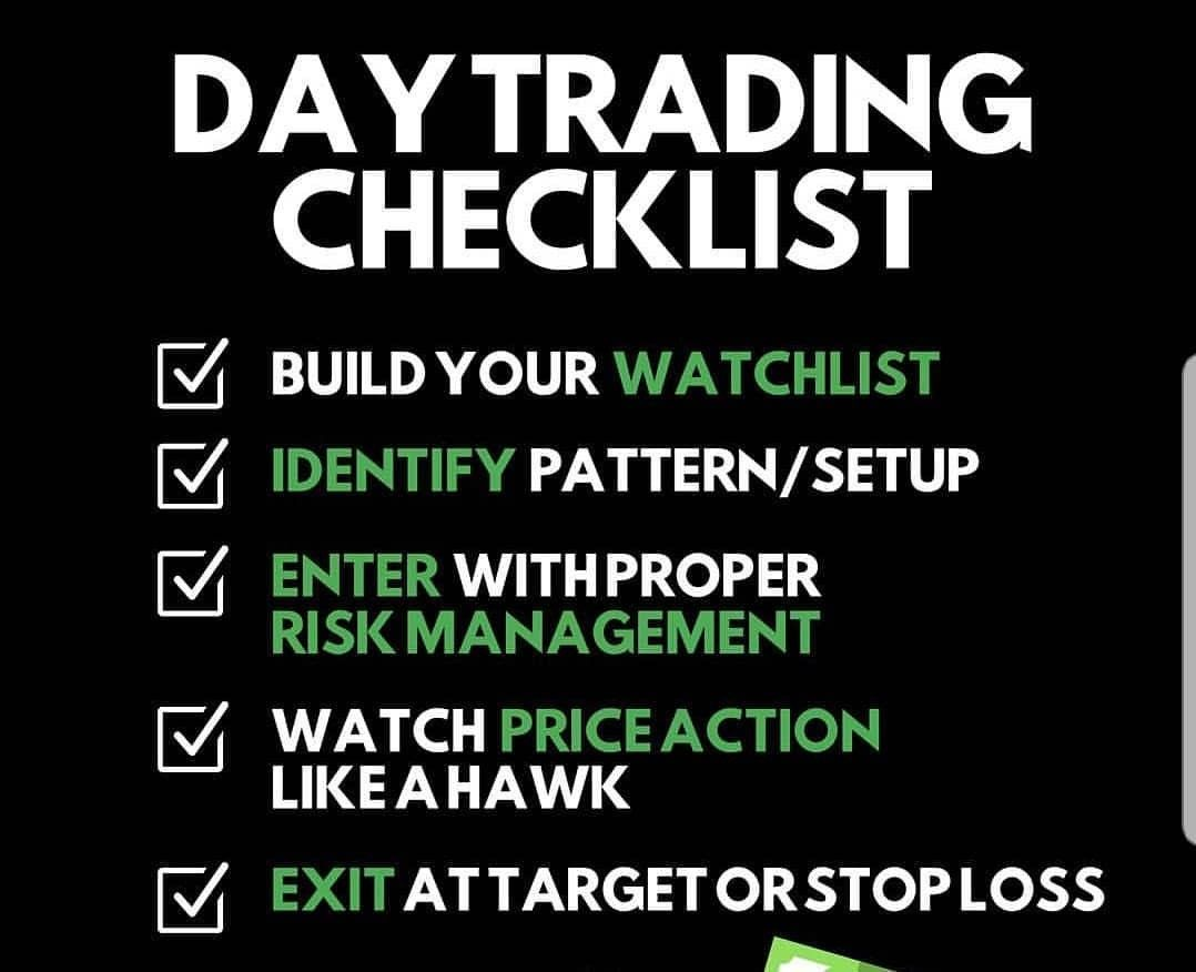 Day Trading Checklist Day Trading Trading Quotes Stock Trading Strategies
