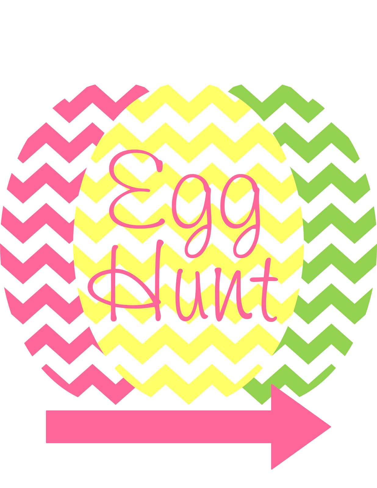 Printable Chevron Egg Hunt Sign