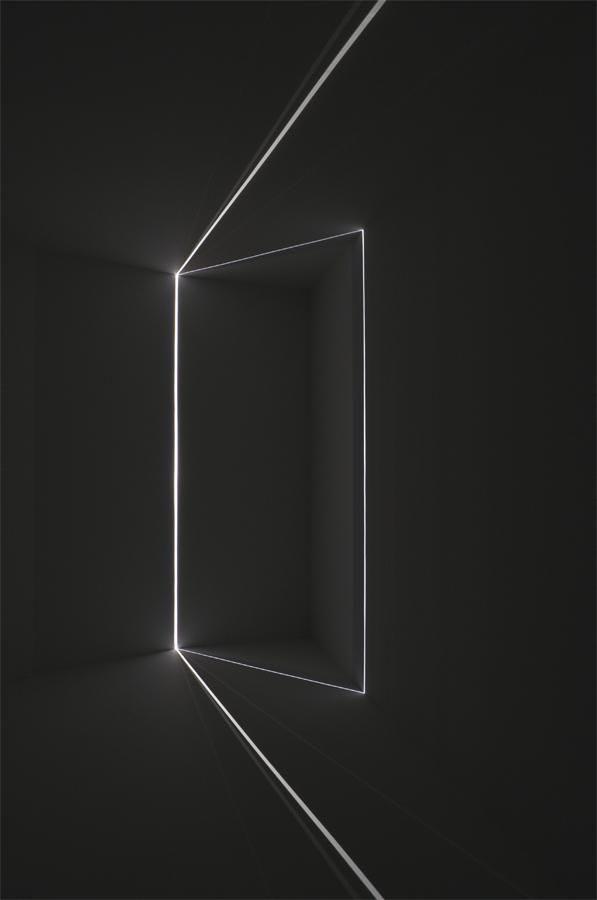 Chris Fraser, light installation. One line drawing the view from 575 Sutter Street, 2011